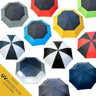 Golf Umbrella UV Coated 32 pollici Windcutter con windslots extra large